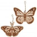 Wooden butterfly Tori to hang, 2 motifs, L25c
